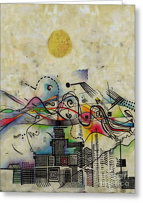 Windy Mixed Media Greeting Cards - Blow Greeting Card by Andy  Mercer