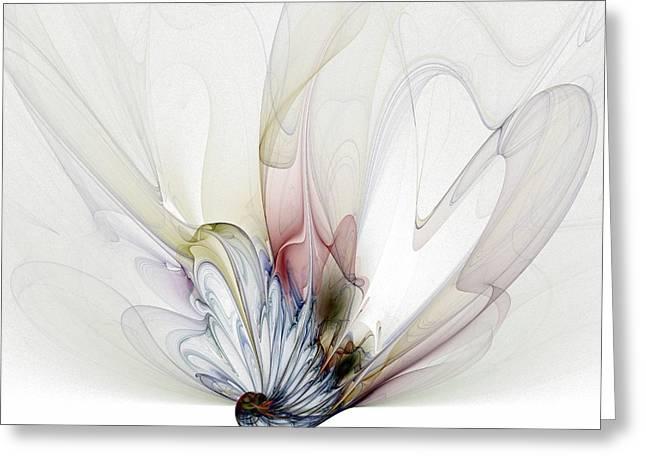 Fractals Digital Art Greeting Cards - Blow Away Greeting Card by Amanda Moore