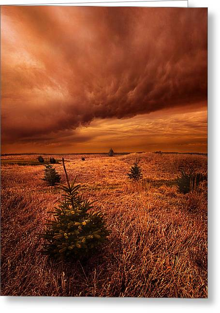 Blowing By Greeting Card by Phil Koch