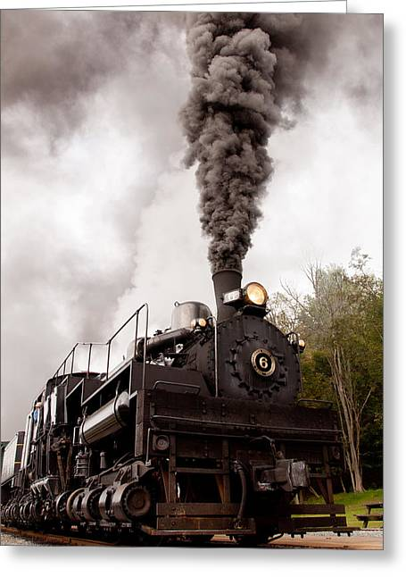 Recently Sold -  - Iron Greeting Cards - Blowing smoke Greeting Card by Joe Tabb