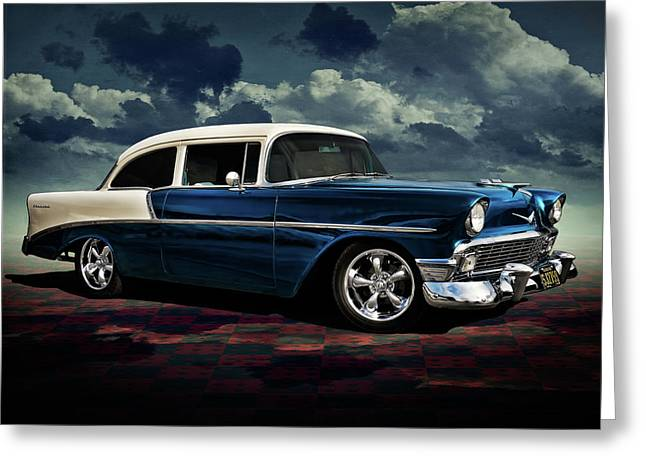 Custom Automobile Greeting Cards - Blue 56 Greeting Card by Douglas Pittman