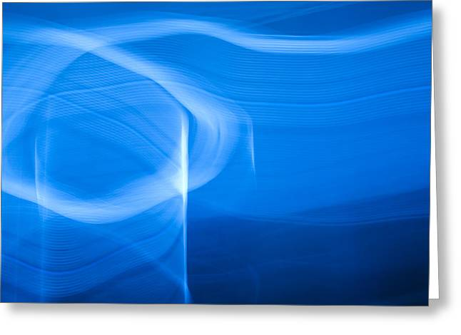 Blue Abstract 2 Greeting Card by Mark Weaver
