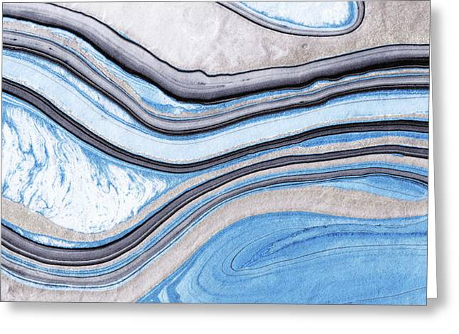 Blue Abstract Art - Water And Sky - Sharon Cummings Greeting Card by Sharon Cummings