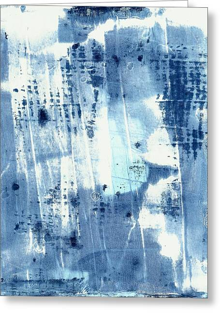 Lisa Noneman Greeting Cards - Blue Abstract II Greeting Card by Lisa Noneman