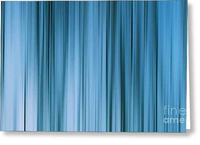 Abstract Fields Greeting Cards - Blue abstract Greeting Card by SK Pfphotography