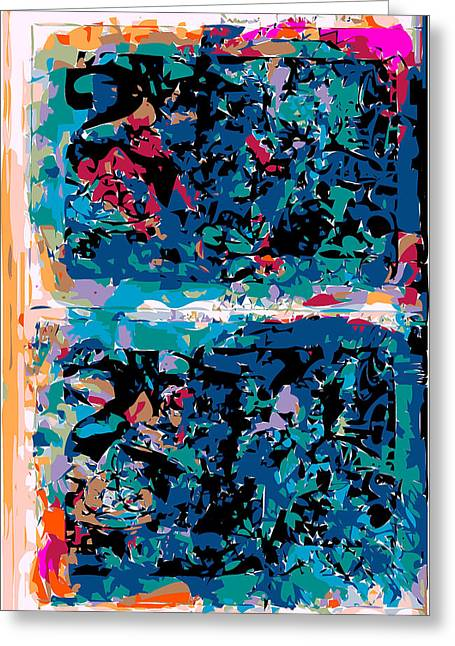 Design Principle Greeting Cards - Blue Abstraction Greeting Card by F Burton