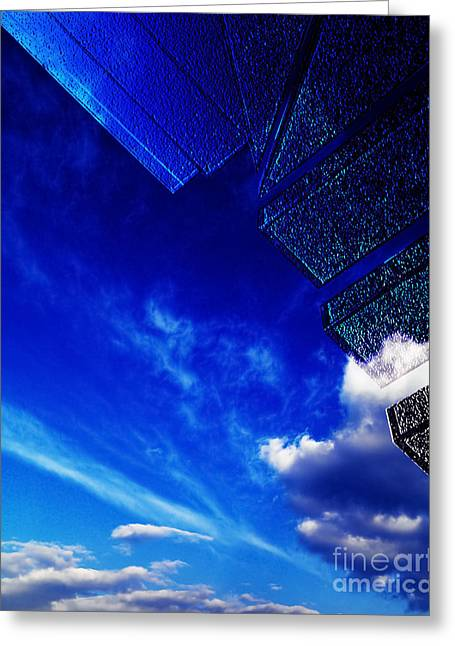 Altered Architecture Greeting Cards - Blue Greeting Card by Adriano Pecchio