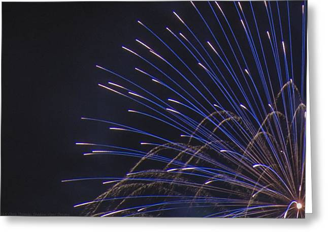 Independance Greeting Cards - Blue and Silver Display Detail Greeting Card by Chris Thomas