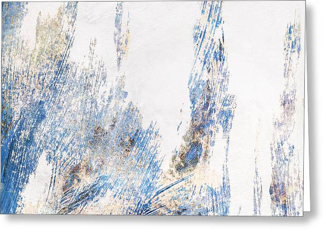 Blue And White Art - Ice Castles - Sharon Cummings Greeting Card by Sharon Cummings