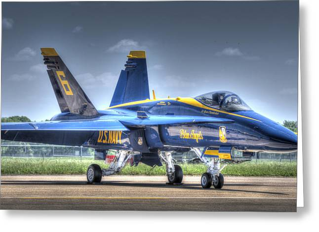 Angel Blues Greeting Cards - Blue Angel 6 Greeting Card by Phil Rispin
