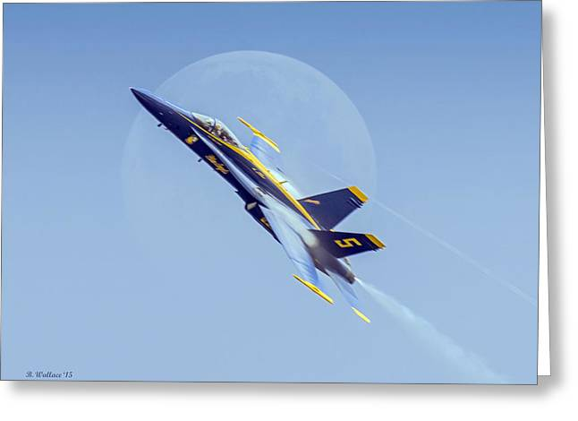 Angel Blues Greeting Cards - Blue Angel - Blue Moon Greeting Card by Brian Wallace