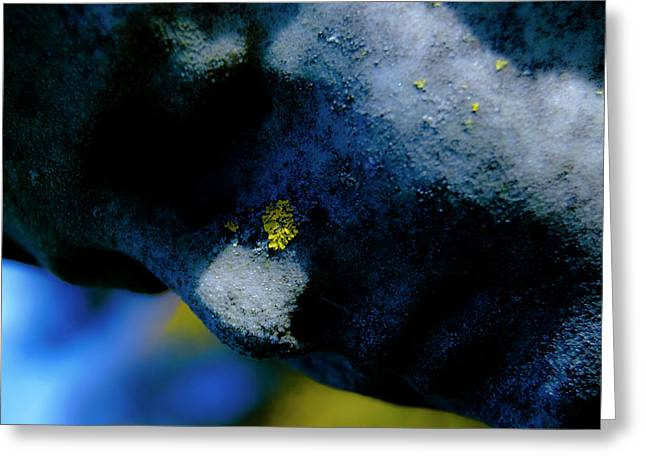 Angel Blues Greeting Cards - Blue Angel Face i Greeting Card by Grebo Gray