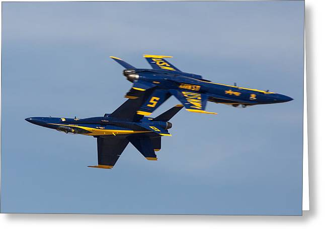 F-18 Greeting Cards - Blue Angel Solos Greeting Card by John Daly