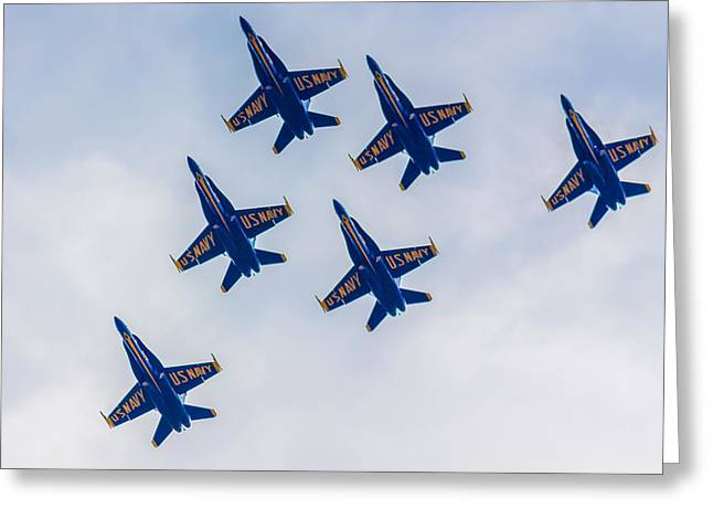 Boston Ma Greeting Cards - Blue Angels 2 Greeting Card by Brian MacLean