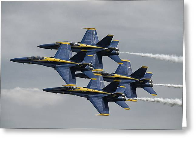 Angel Blues Greeting Cards - Blue Angels Diamond Greeting Card by Eric Miller