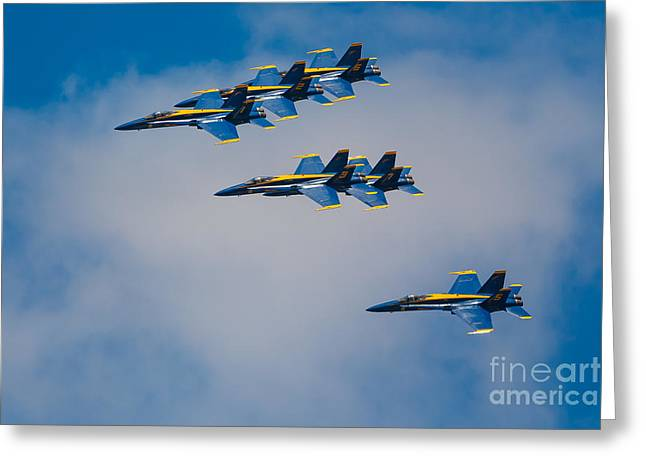 Angel Blues Greeting Cards - Blue Angels Greeting Card by Inge Johnsson