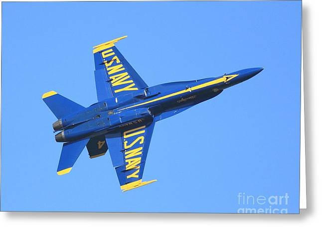 Fleet Week Greeting Cards - Blue Angels No.4 Greeting Card by Wingsdomain Art and Photography