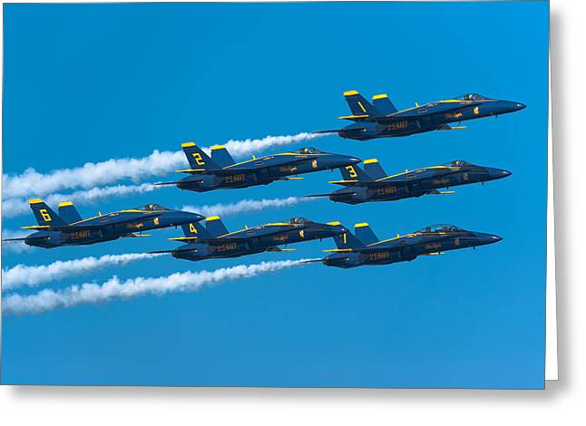 F-18 Greeting Cards - Blue Angels Greeting Card by Sebastian Musial