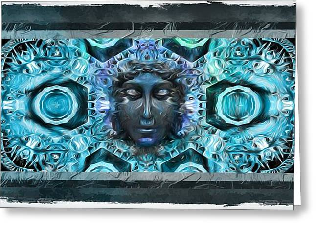 Mystic Art Greeting Cards - Blue Atheahon  Greeting Card by Daniel  Arrhakis