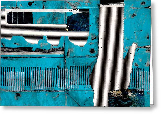 Blue Bag Ditty  Greeting Card by Laura  Lein-Svencner