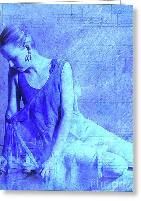 Blue Ballerina  Greeting Card by Joe Klune