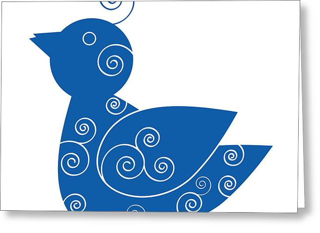 Swooshes Greeting Cards - Blue Bird Greeting Card by Frank Tschakert