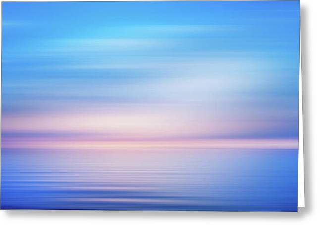 Blue Bliss In The Morning Greeting Card by Georgiana Romanovna