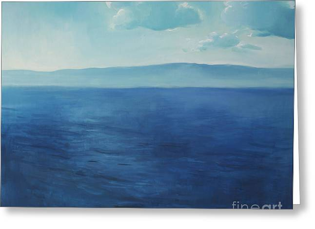 Lin Greeting Cards - Blue blue sky over the sea  Greeting Card by Lin Petershagen