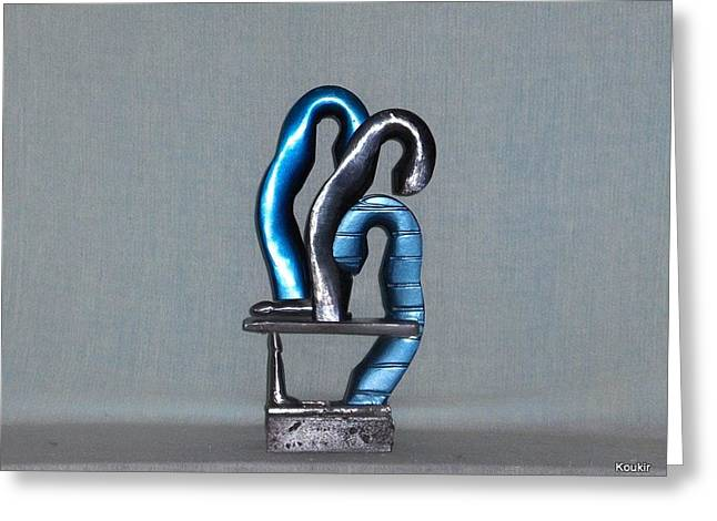 Erotic Sculptures Greeting Cards - Blue Boys Greeting Card by Kent Kanouse