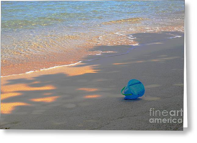 Pacific Ocean Prints Greeting Cards - Blue Bucket Greeting Card by Jeanette French