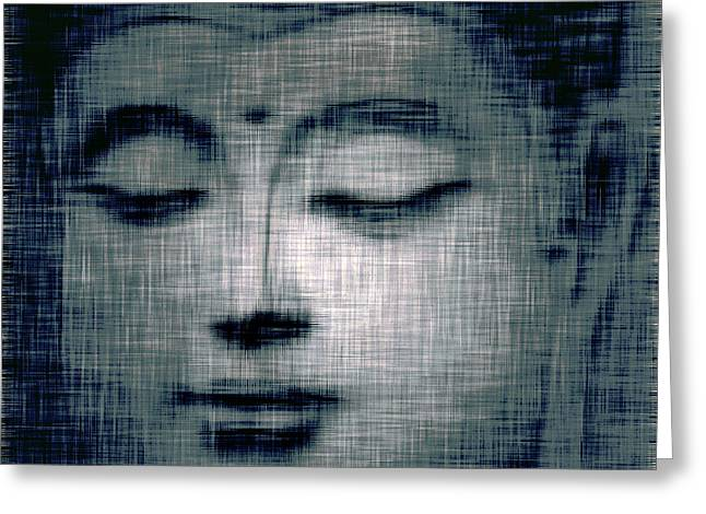 Religion Framed Prints Greeting Cards - Blue Buddha Greeting Card by Jayne Logan Intveld