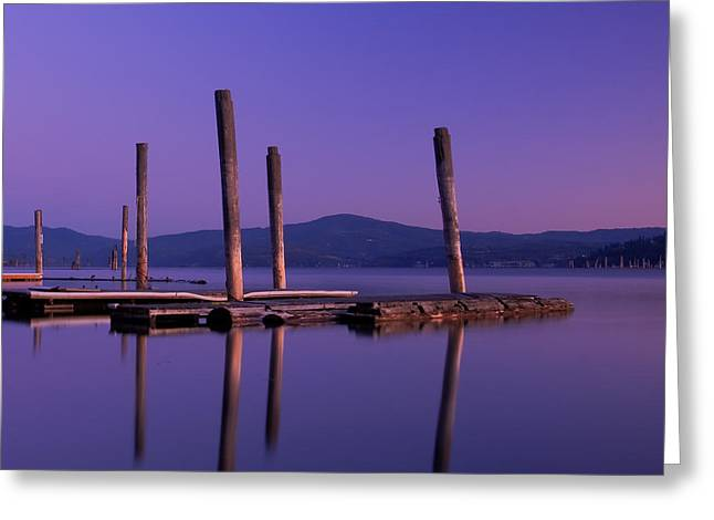 Piling Greeting Cards - Blue Calm Greeting Card by Idaho Scenic Images Linda Lantzy