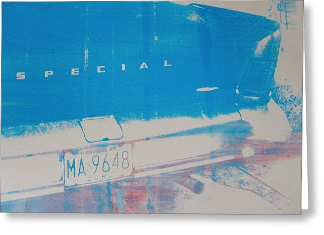 Blue Classic Car Greeting Cards - Blue Car Greeting Card by David Studwell