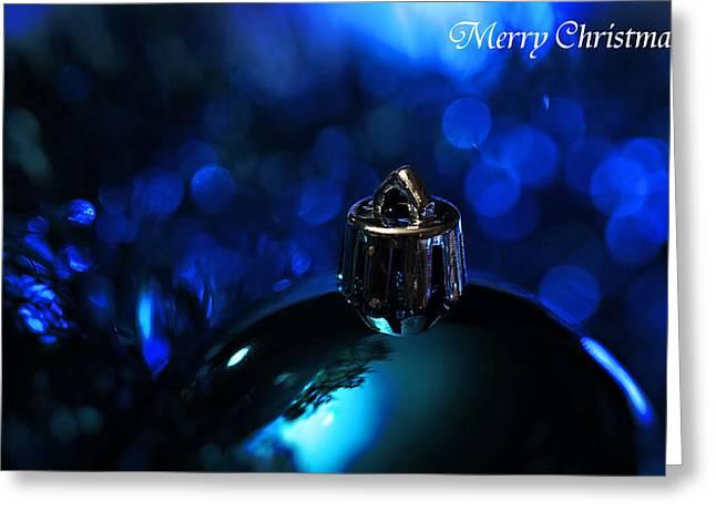Christmas Greeting Photographs Greeting Cards - Blue Christmas Greeting Card by Celestial  Blue