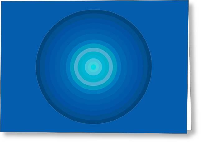 Blue Circles Greeting Card by Frank Tschakert