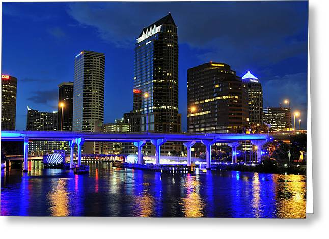 Republican Greeting Cards - Blue City Greeting Card by David Lee Thompson