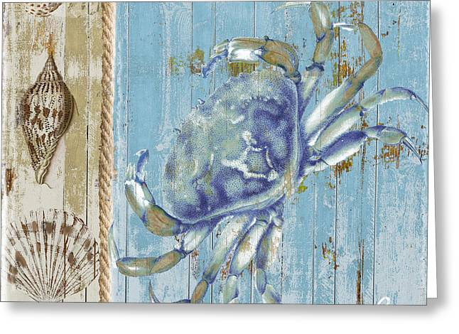 Blue Claw Crab Greeting Card by Mindy Sommers