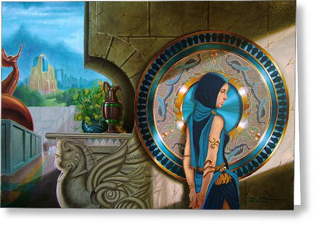 Marbel Greeting Cards - Blue Cloak Greeting Card by Richard  Raney