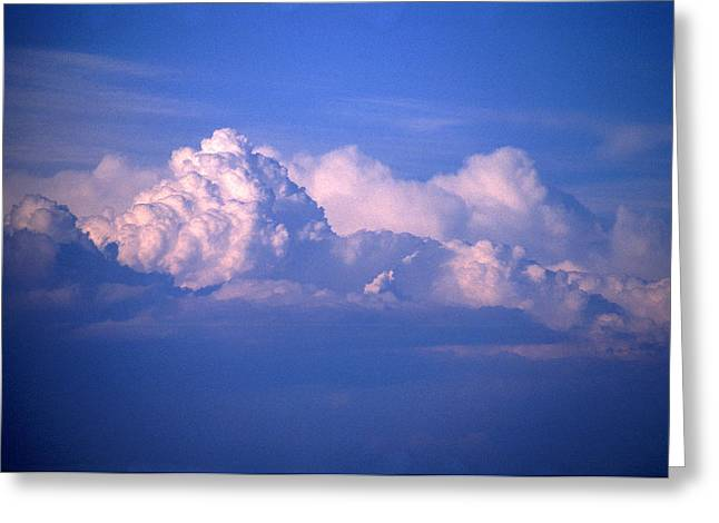 Turbulent Skies Greeting Cards - Blue Clouds Greeting Card by Malcolm Padgham