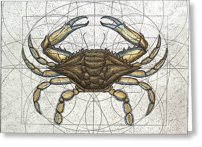 Cape Cod Bay Greeting Cards - Blue Crab Greeting Card by Charles Harden