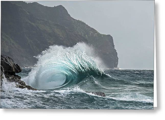 Surf Photos Art Greeting Cards - Blue Crash Greeting Card by Jon Glaser
