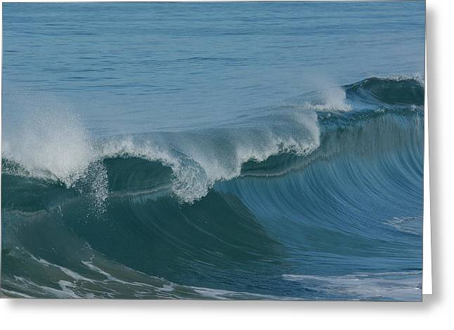 Abstract Waves Greeting Cards - Blue Crush Greeting Card by Fraida Gutovich