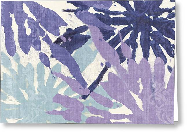 Tie Dye Greeting Cards - Blue Curry II Greeting Card by Mindy Sommers