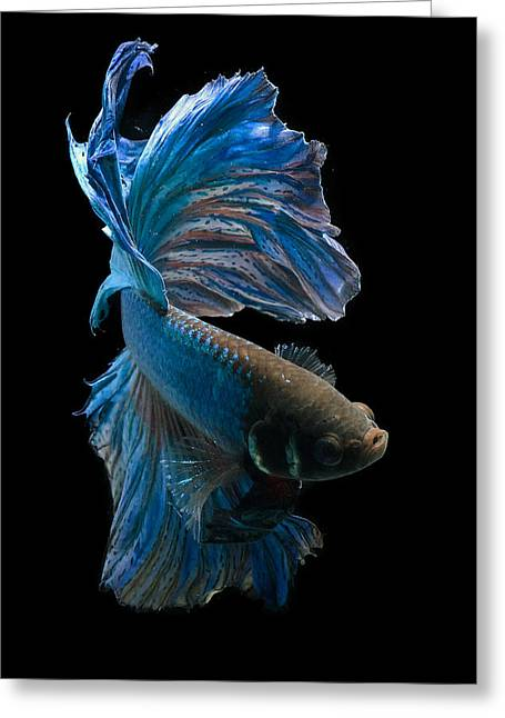 Blue Dancer Greeting Card by Dikky Oesin