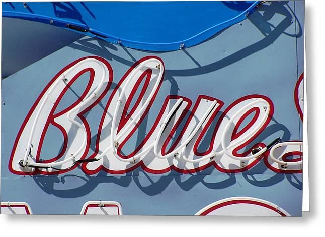 Roadside Art Greeting Cards - Blue Greeting Card by David Gianfredi