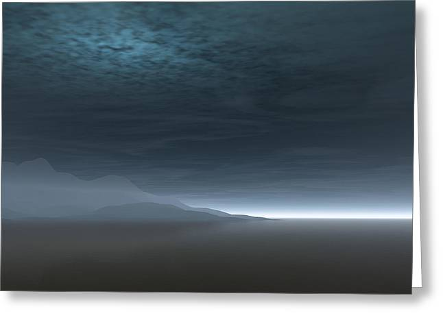 Grey Clouds Greeting Cards - Blue Dawn Greeting Card by Fotios Pavlopoulos