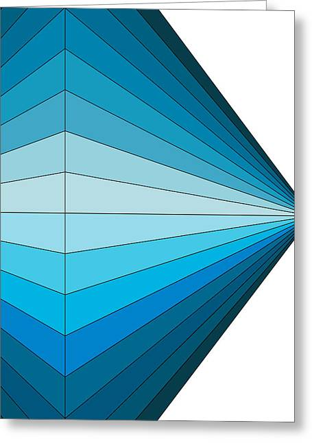 Abstract Digital Drawings Greeting Cards - Blue Diamond Greeting Card by Sandi Hauanio