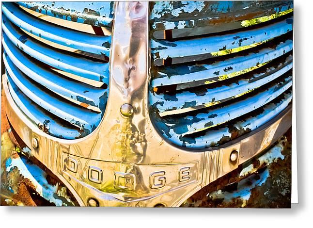 Blue Dodge - Grab Life Greeting Card by Colleen Kammerer