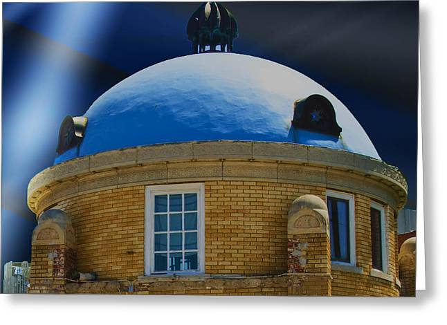 Purchase Greeting Cards - Blue Dome District Greeting Card by Terry
