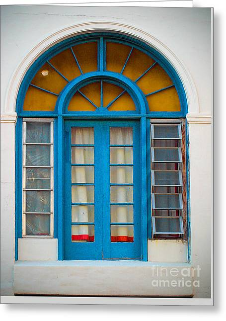 Interior Still Life Greeting Cards - Blue Door No 1 Greeting Card by Lew Lautin